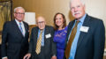 From left: Tom Brokaw, Claude Sitton, Brenda Wood and Ted Turner (Photo courtesy Atlanta Press Club)
