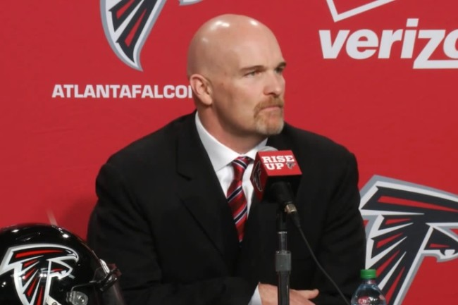 "(""Dan Quinn 2015 intro press conference"" by Atlanta Falcons - https://www.youtube.com/watch?v=pUItS9FjyEA. Licensed under CC BY 3.0 via Wikimedia Commons - https://commons.wikimedia.org/wiki/File:Dan_Quinn_2015_intro_press_conference.jpg#/media/File:Dan_Quinn_2015_intro_press_conference.jpg)"