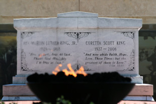 The crypt of Dr. Martin Luther King Jr. and Coretta Scott King as seen on May 2, 2015. (Photo by Todd DeFeo)