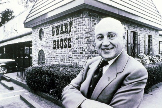 "Truett Cathy at the original ""Dwarf House"" in Hapeville, Georgia (1979)."